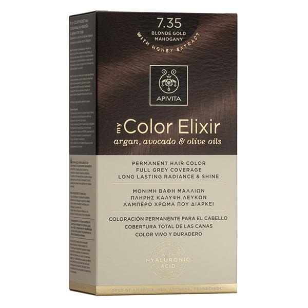 APIVITA My Color Elixir, Βαφή Μαλλιών No 7.35 -  Ξανθό Μελί Μαονί