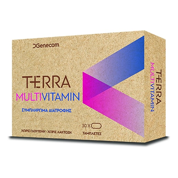 GENECOM Terra Multivitamin, Πολυβιταμινούχο Συμπλήρωμα Διατροφής - 30tabs