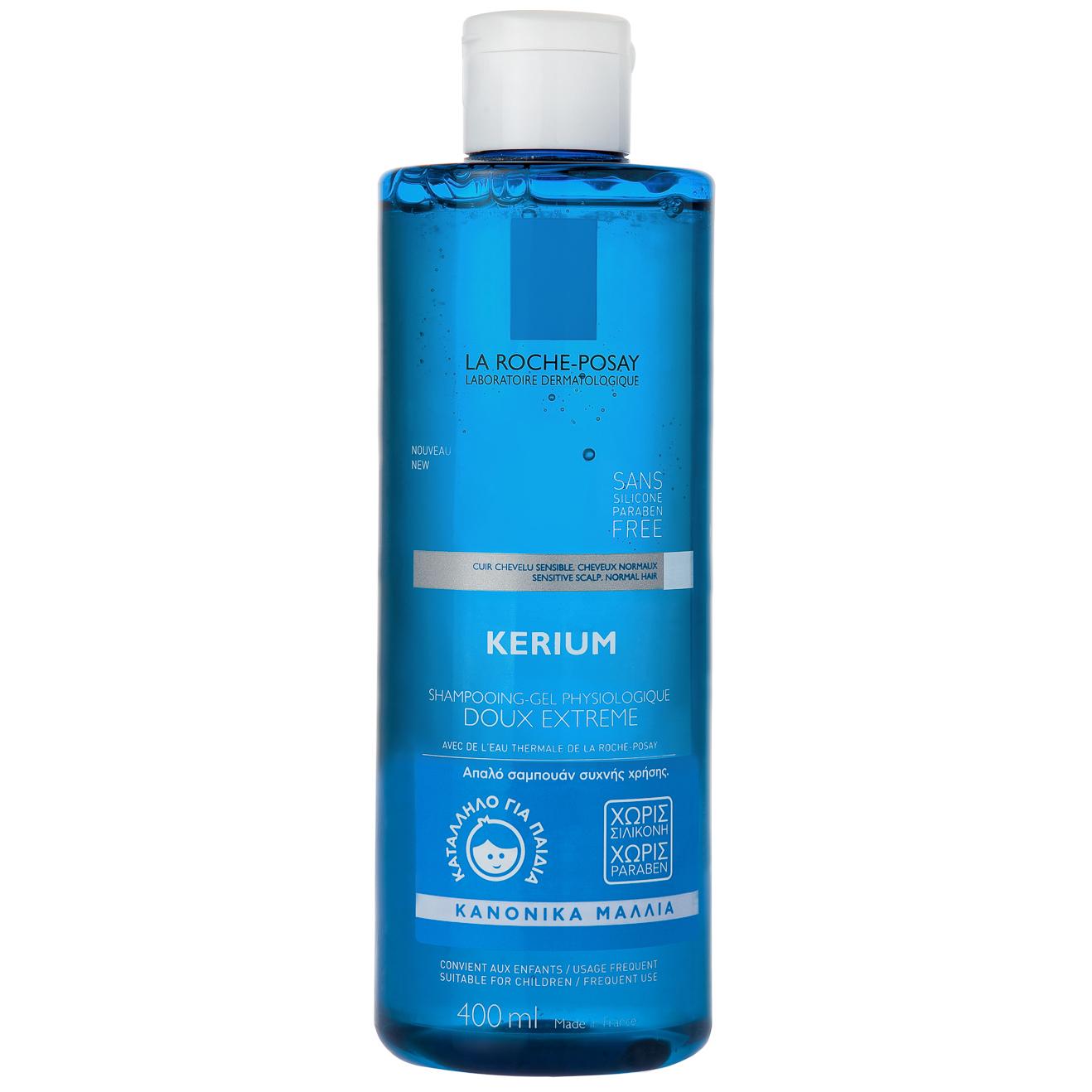 LA ROCHE POSAY Kerium Doux Extreme Gel Shampoo Για Κανονικά Μαλλιά 400ml