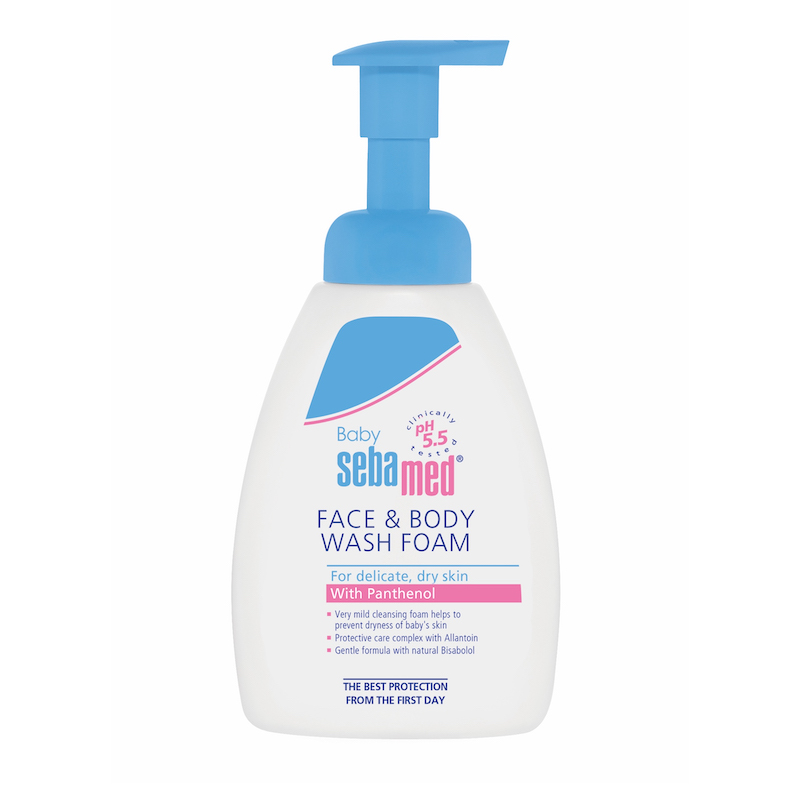 SEBAMED Baby Face & Body Wash Foam, Ήπιος Αφρός Καθαρισμού - 400ml