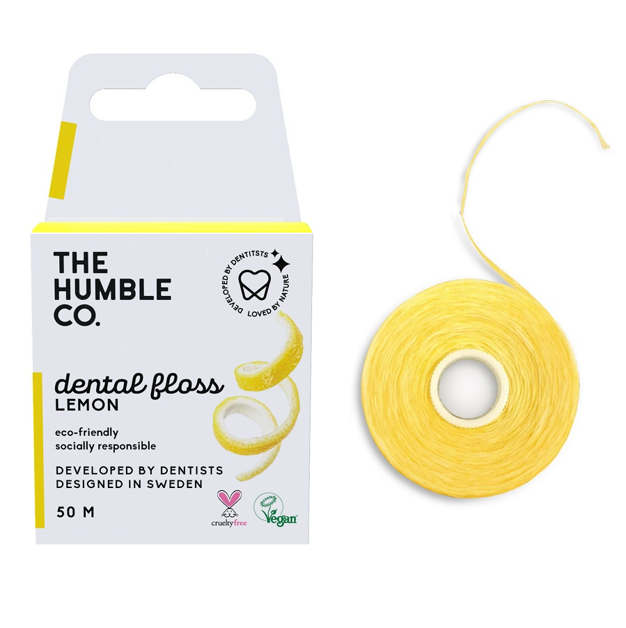 THE HUMBLE CO Dental Floss, Οδοντικό Νήμα με Γεύση Λεμόνι - 50m