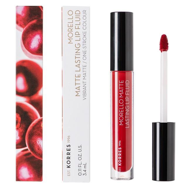 KORRES Morello Matte Lasting Lip Fluid, 59 Brick Red - 3.4ml