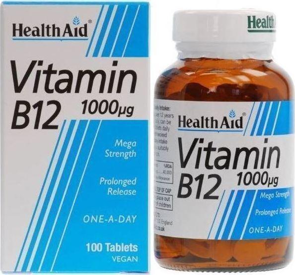HEALTH AID Vitamin B12 Κοβαλαμίνη 1000μg - 100tabs