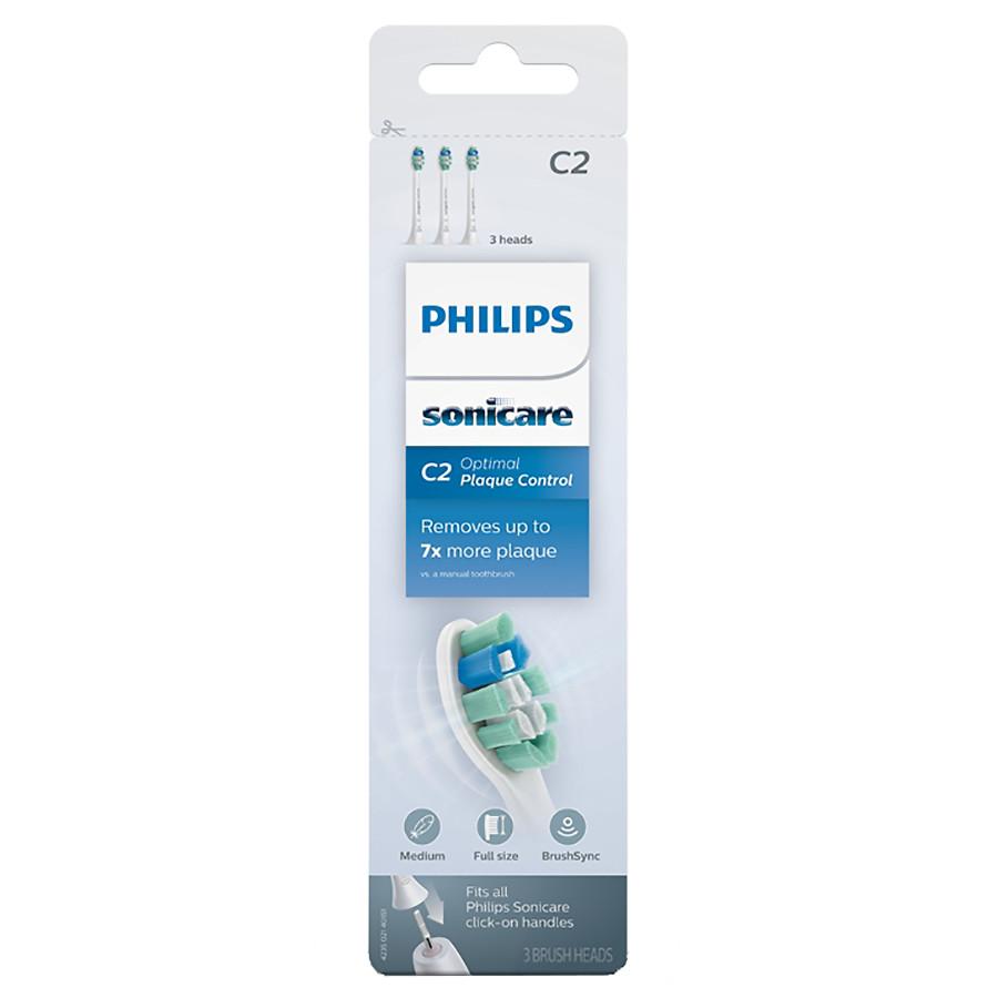 PHILIPS Sonicare C2 Optimal Plaque Defence HX9022/10, Ανταλλακτικές Κεφαλές Οδοντόβουρτσας - 2τμχ