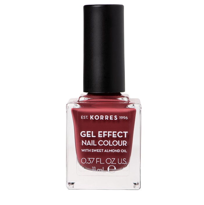 KORRES Gel Effect Βερνίκι Νυχιών Nail Colour No77 Vintage Bordeaux 11ml