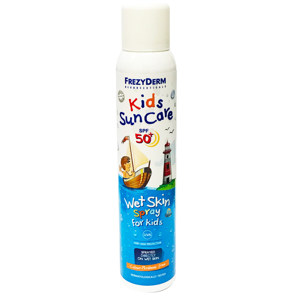 FREZYDERM Kids Suncare SPF50 Wet Skin Spray, Παιδικό Αντηλιακό - 200ml