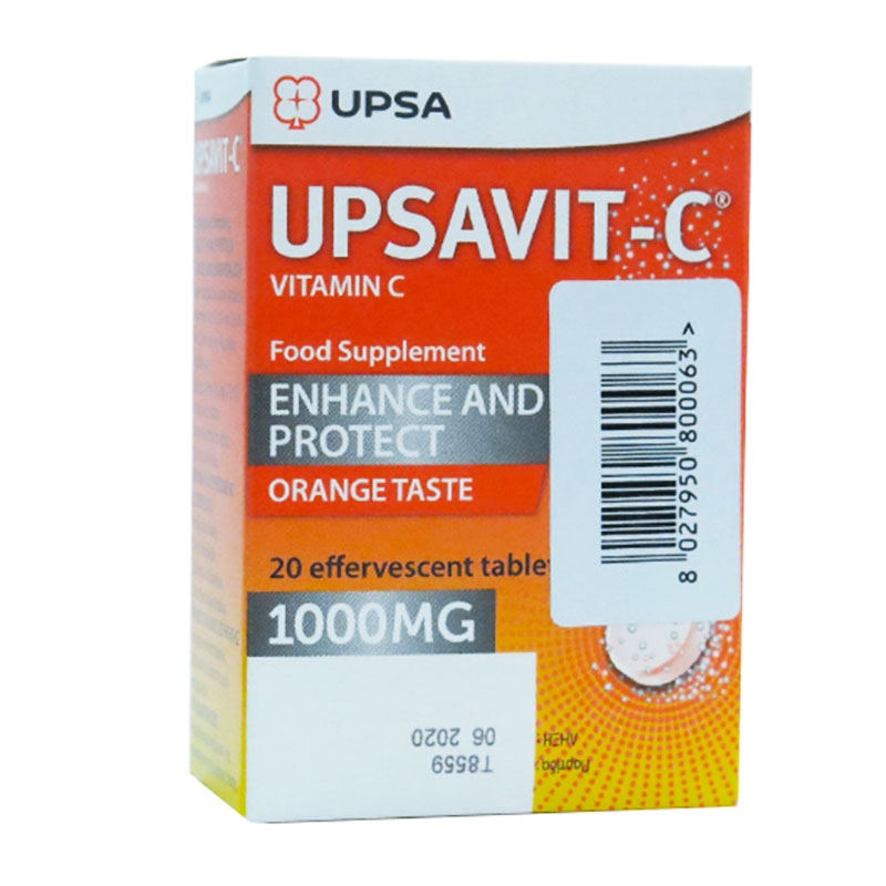 UPSA Upsavit- C 1000mg - 20 αναβρ. δισκία