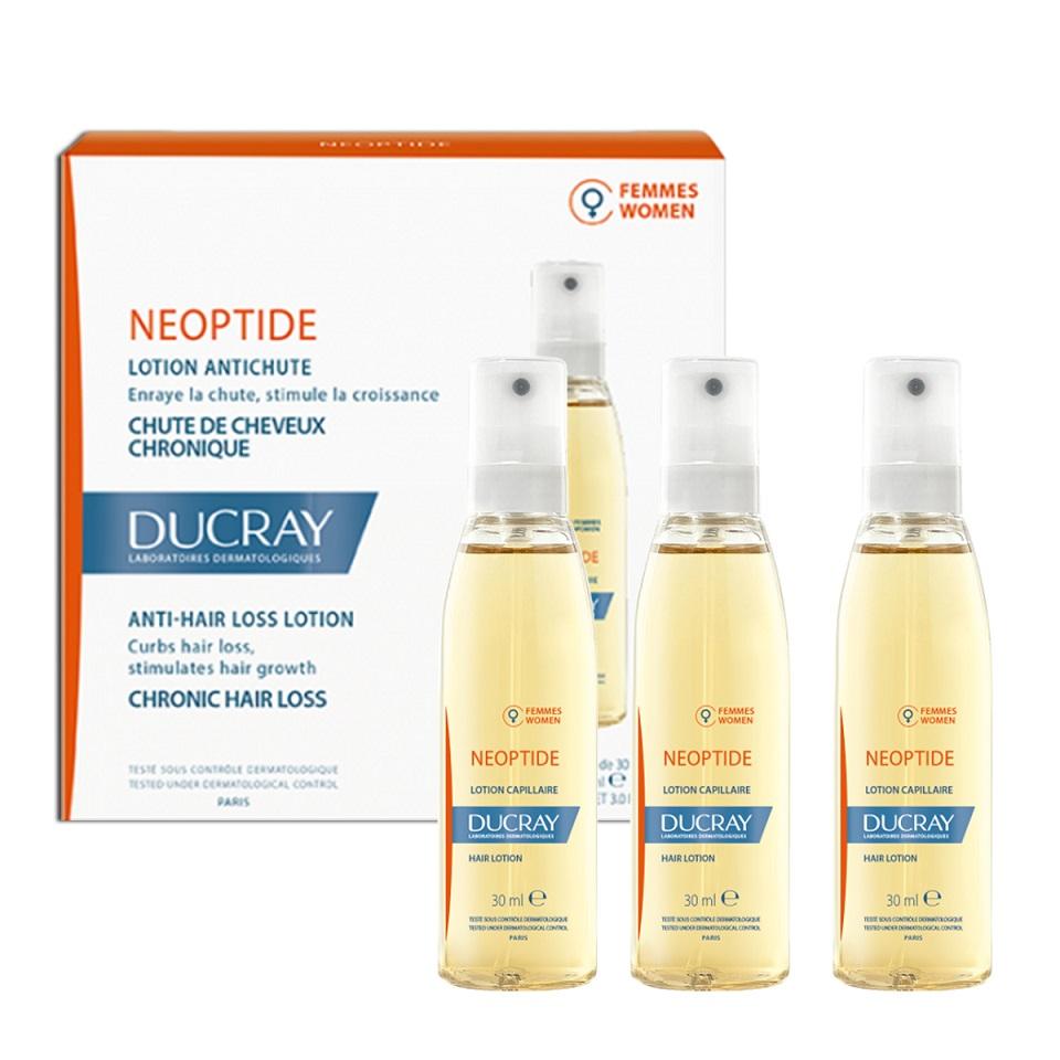 Ducray Neoptide Lotion, Λοσιόν Κατά της Γυναικείας Τριχόπτωσης - 3x30ml