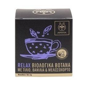 APIVITA Βιολογικό Τσάϊ με Τίλιο-Βανίλια-Μελισσόχορτο -10 Φακελάκια x1,5gr