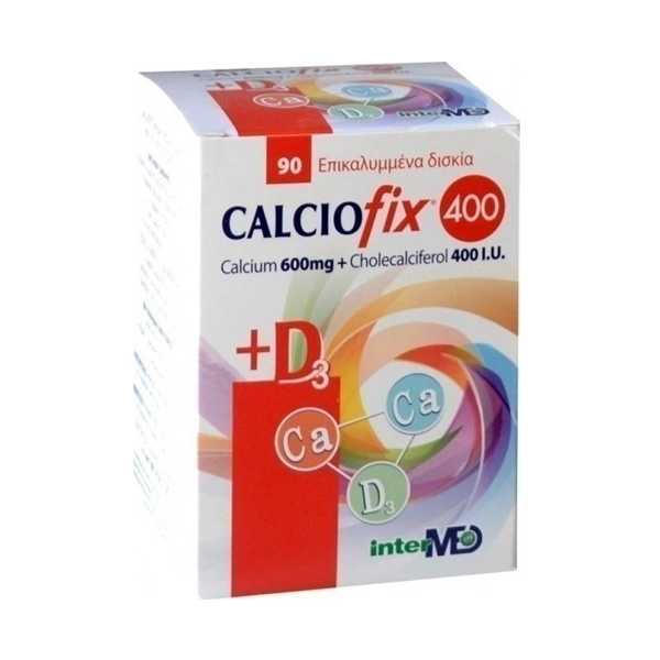 INTERMED Calciofix 600mg + D3 400i.u. 90tabs