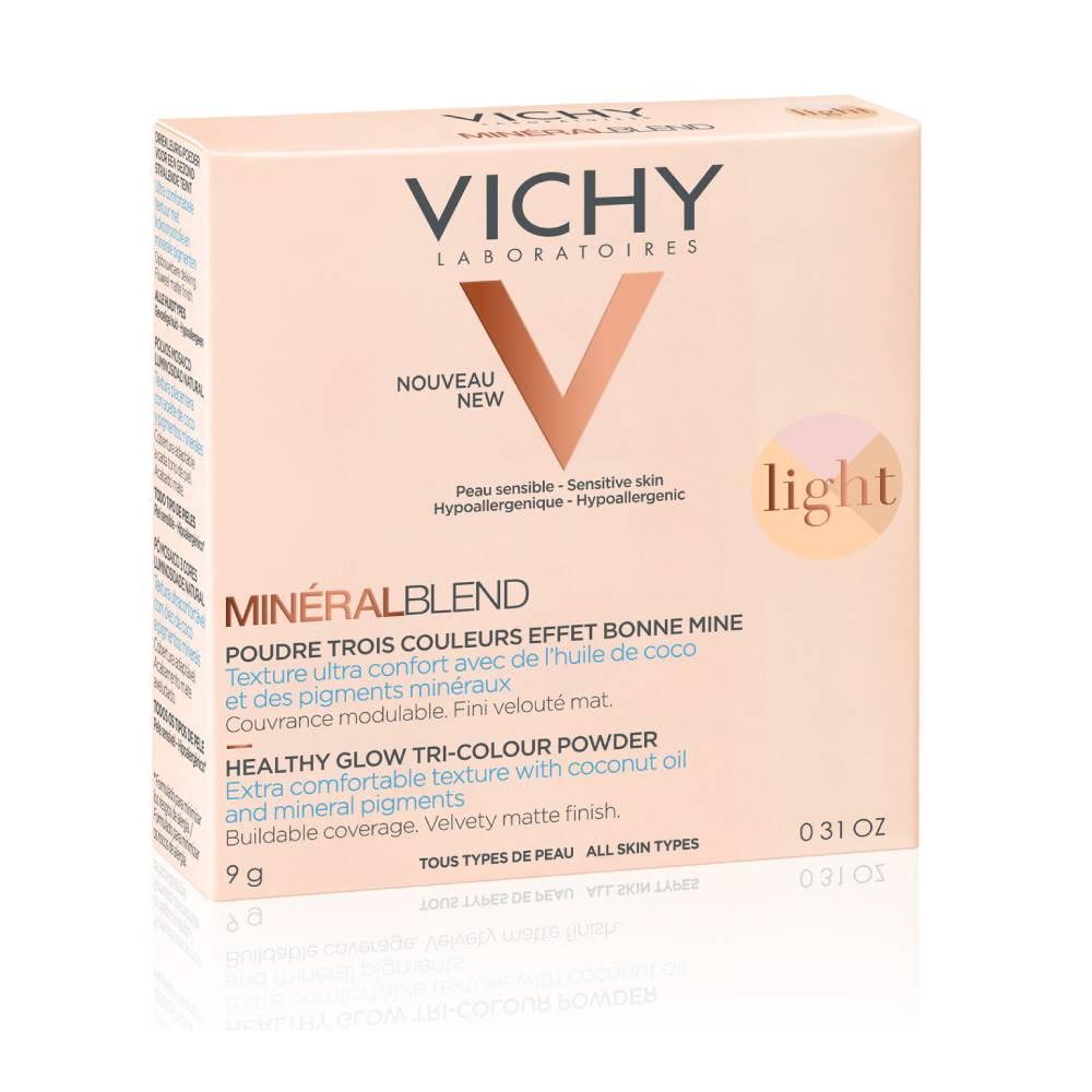 VICHY MineralBlend Healthy Glow Tri-Color Powder, Τρίχρωμη Πούδρα Light -9gr