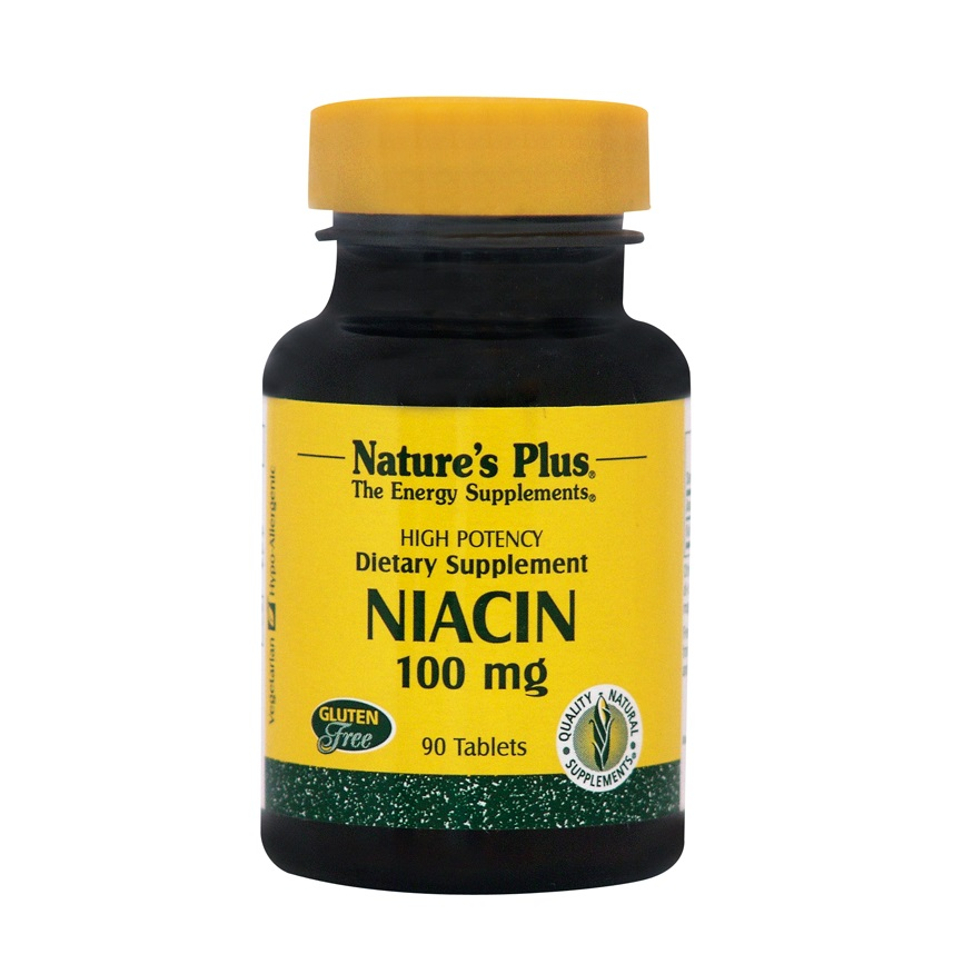 NATURES PLUS Niacin (B3) 100mg - 90tabs