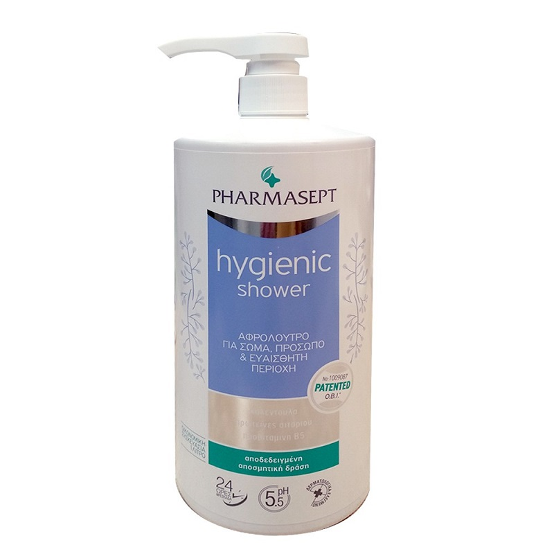 PHARMASEPT Hygienic Shower, Αφρόλουτρο με Ήπια Αντισηπτική Δράση  - 1lt