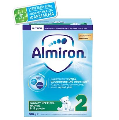 NUTRICIA Almiron 2, Γάλα 2ης Βρεφικής Ηλικίας 6-12 μηνών - 600gr