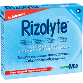 INTERMED Rizolyte -Άλευρο Ρυζιού & Ηλεκτρολύτες 6 φακελίσκοι