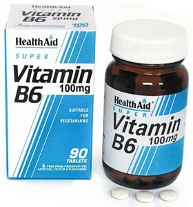 HEALTH AID Vitamin B6 100mg 90Tabs