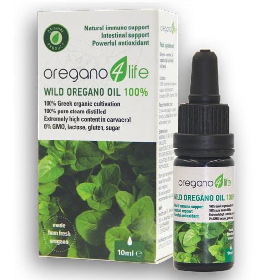 OREGANO 4 LIFE Wild Oregano oil 100%, Αιθέριο Έλαιο Ρίγανης - 10ml