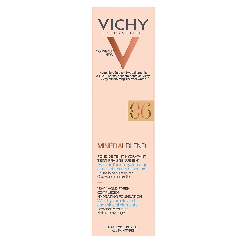 VICHY MineralBlend Hydrating Fluid Foundation (06-Dune) - 30ml