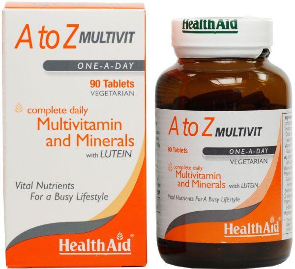 HEALTH AID A to Z Multivit One-A-Day, Πολυβιταμίνη - 90tabs