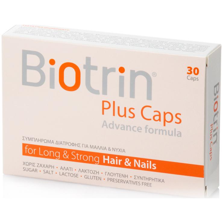 BIOTRIN Plus Caps Advance Formula - Συμπλήρωμα Διατροφής Για Μαλλιά & Νύχια 30τμχ