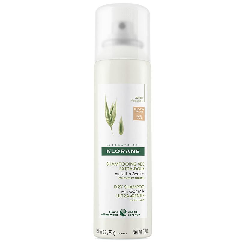 KLORANE Dry Shampoo Lait Avoine, Ξηρό Σαμπουάν Spray με Γάλα Βρώμης για Καστανά Μαλλιά - 150ml