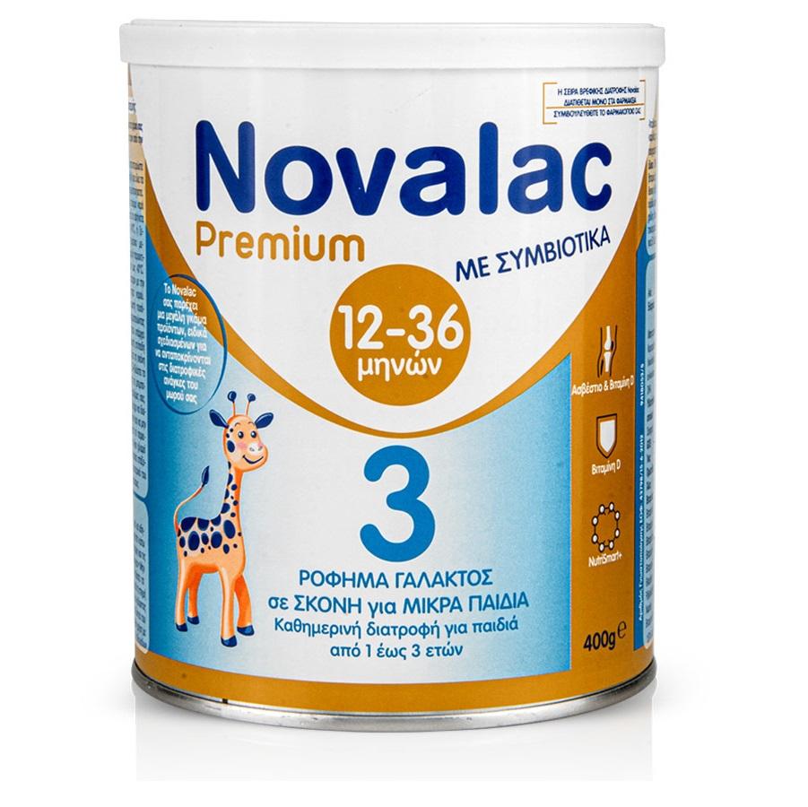 NOVALAC Premium 3, Ρόφημα Γάλακτος Σε Σκόνη για Παιδιά 1-3 Ετών, Γεύση Βανίλια - 400gr