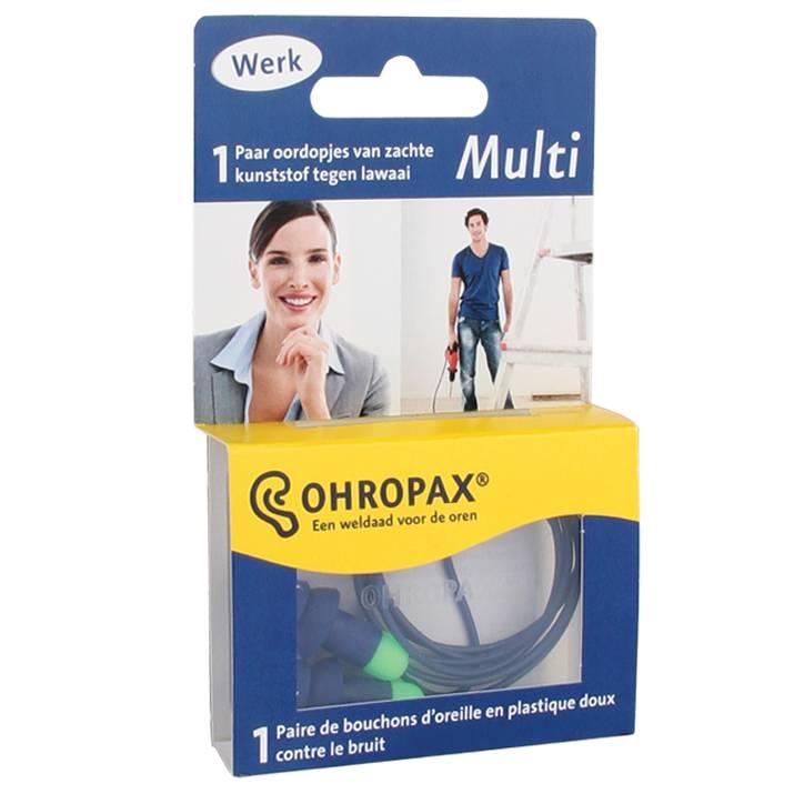 OHROPAX MULTI - Ωτοασπίδα Βιδωτή Πλαστική SNR30dB 1 Ζεύγος