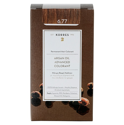KORRES Βαφή Argan Oil 6.77 Καστανό Πραλίνα - 50ml