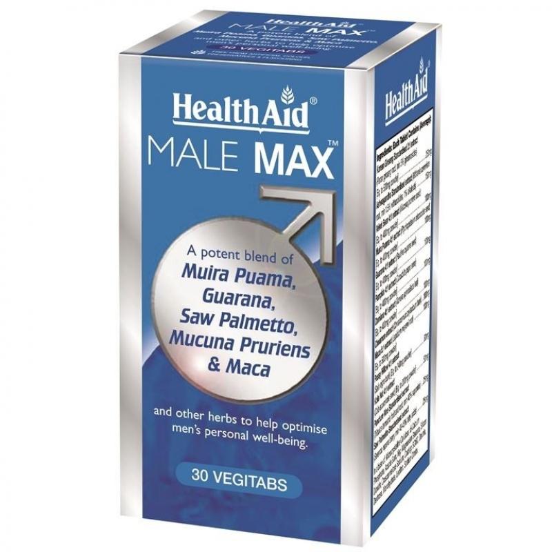 HEALTH AID  Male Max, Τονωτική Πολυβιταμίνη για Άνδρες - 30tabs