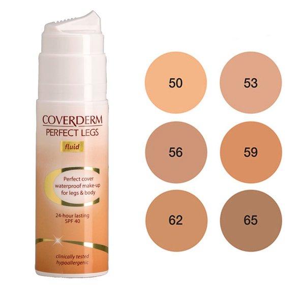 COVERDERM Perfect Legs Fluid no 56, Αδιάβροχο Make-Up για Πόδια και Σώμα, SPF40 - 75ml