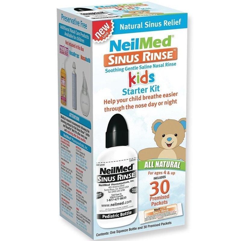 NEILMED Sinus Rinse Kids Starter Kit, Σύστημα Ρινικών Πλύσεων για Παιδιά - φιαλίδιο πλύσεων & 30 φάκελοι
