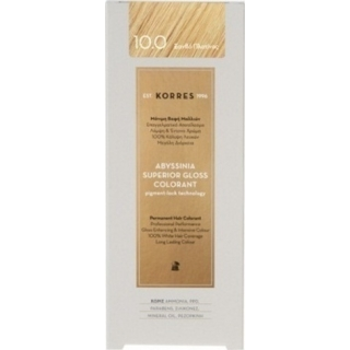 KORRES Βαφή Μαλλιών Abyssinia Superior Gloss Colorant Ξανθό 10.0 50ml