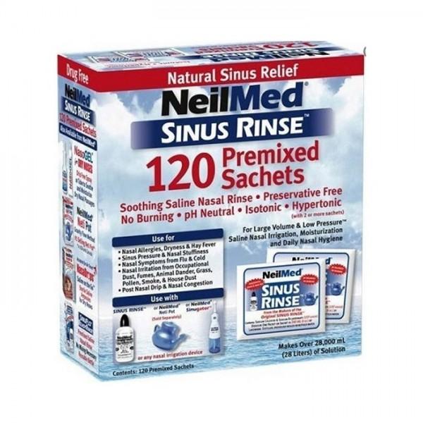 NEILMED Sinus Rinse, Ισοτονικό Διάλυμα Ρινικών Πλύσεων για Ενήλικες - 120 φακελάκια