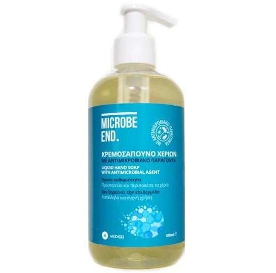 MEDISEI Microbe End, Κρεμοσάπουνο Χεριών με Αντιμικροβιακό Παράγοντα- 300ml