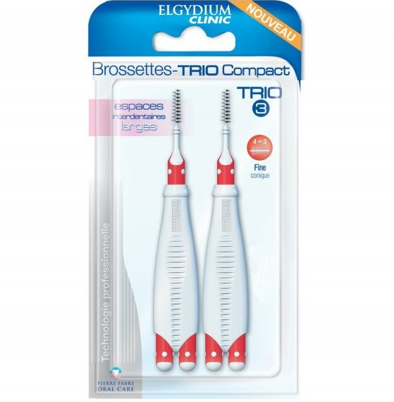 ELGYDIUM Clinic Interdental Brushes Trio Compact 3 - Μεσοδόντια Βουρτσάκια 2τμχ