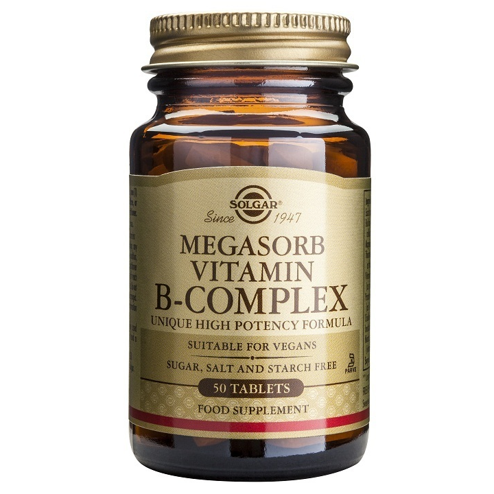 SOLGAR Megasorb B Complex  - 50tabs