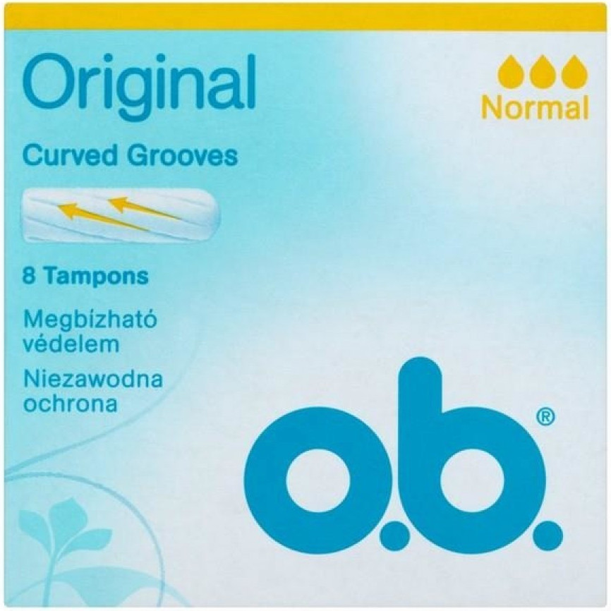 O.B.Ταμπόν Curved Grooves Normal 8τμχ
