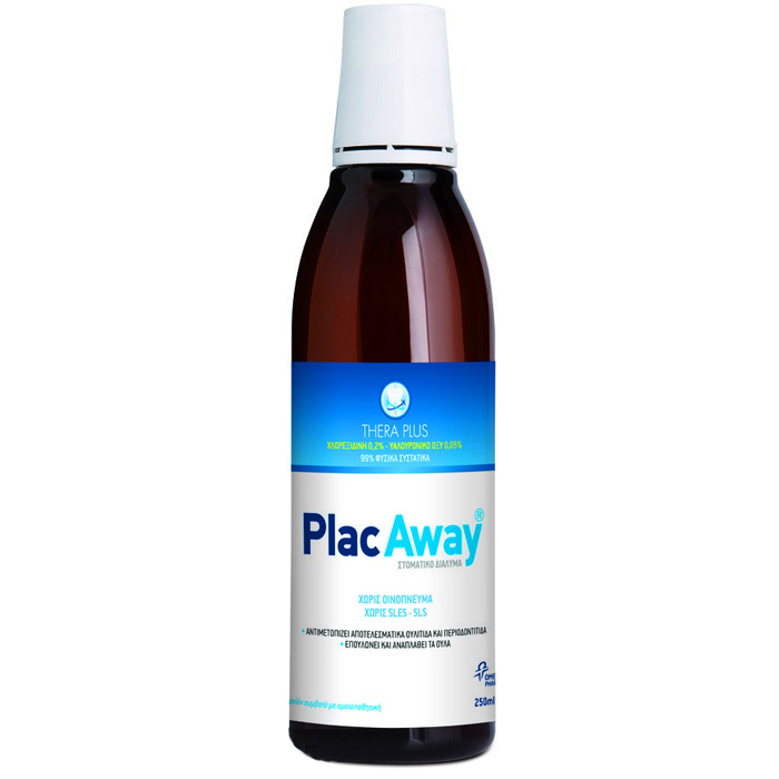 OMEGA PHARMA Plac Away Thera Plus, Στοματικό Διαλυμα 0,20% Χλωρεξιδίνη - 250ml