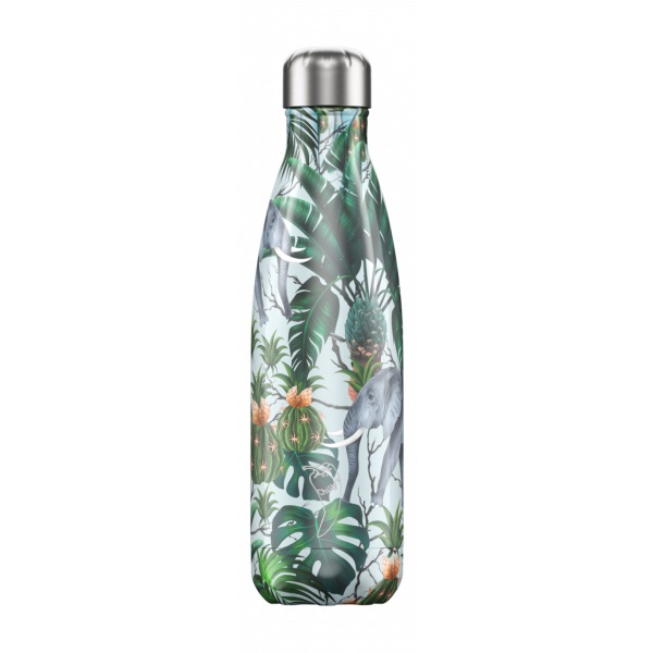 CHILLYS BOTTLES Μπουκάλι- Θερμός Tropical Edition Elephant - 500ml