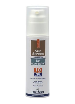 FREZYDERM Sun Screen Tan Accelerator SPF10 - 150ml