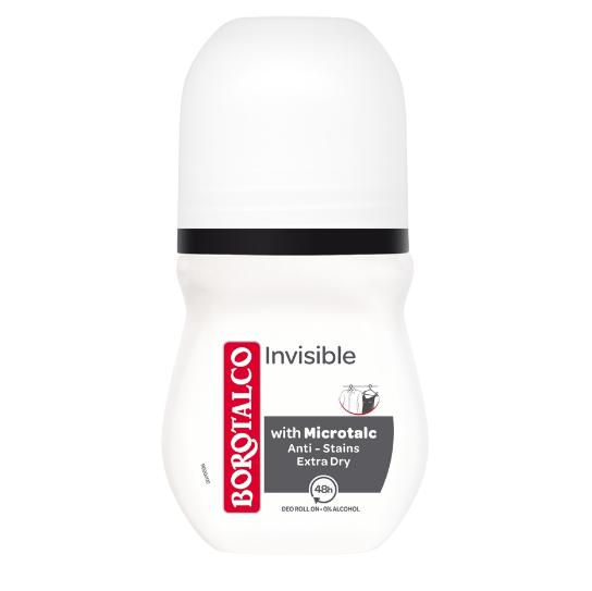 BOROTALCO Invisible Roll-On, Αποσμητικό με Microtalc- 50ml