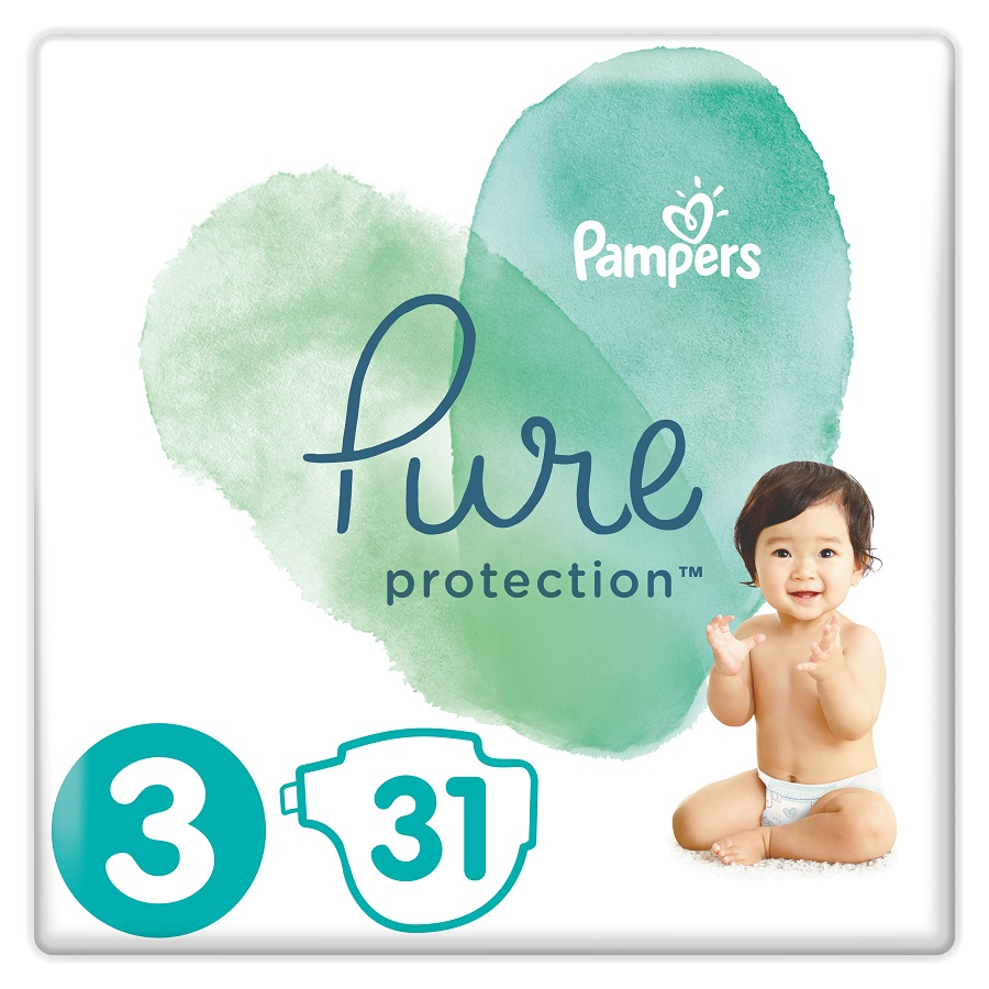 PAMPERS Pure Protection  No 3 (6-10kg) - 31τμχ