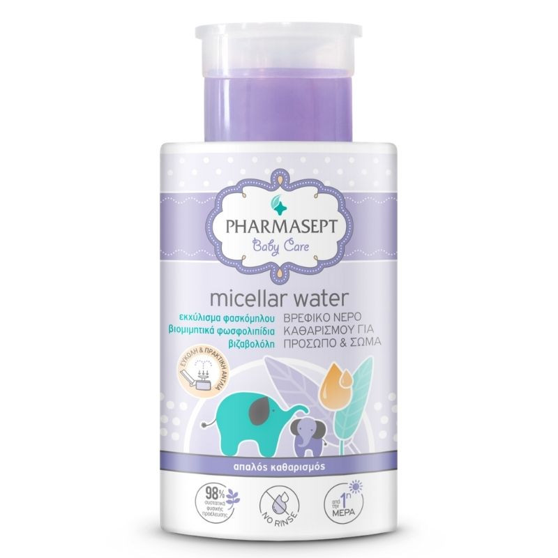 PHARMASEPT Baby Micellar Water, Βρεφικό Νερό Καθαρισμού για Πρόσωπο & Σώμα - 300ml