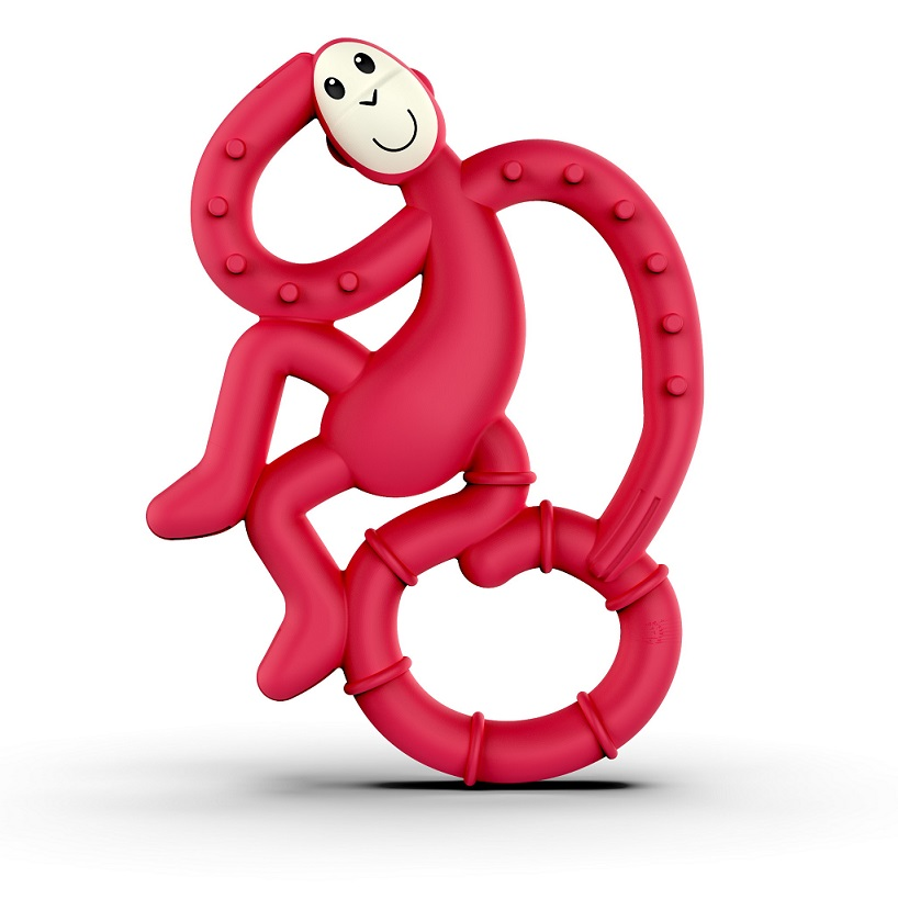 MATCHSTICK MONKEY Mini Monkey Teether Red, Κρίκος Οδοντοφυΐας
