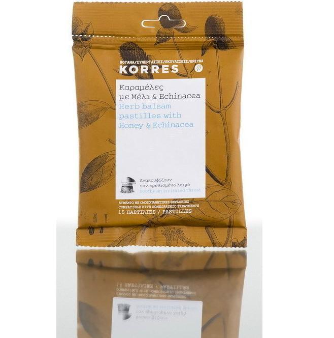 KORRES Καραμέλες Με Μέλι & Echinacea 15τμχ