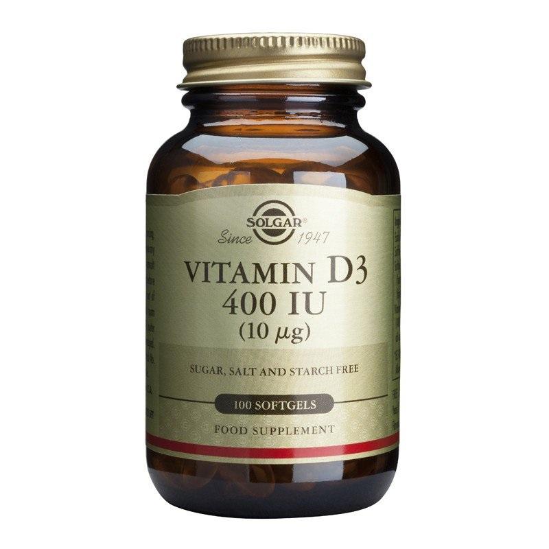 SOLGAR Vitamin D3 400IU - 100softgels