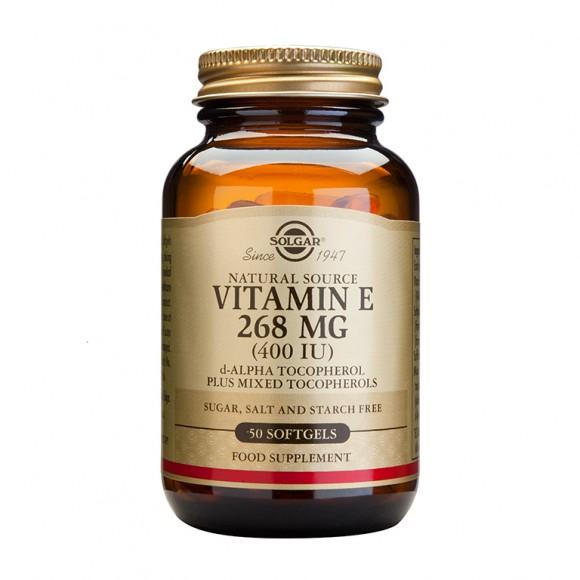 SOLGAR Vitamin E Natural 400IU -50softgels