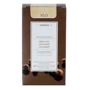 KORRES Βαφή Argan Oil 10.0 Ξανθό Πλατίνας Φυσικό - 50ml