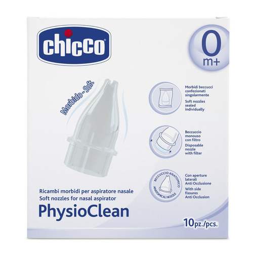 CHICCO Physioclean Ανταλλακτικά Για Τον Ρινικό Αναρροφητήρα 10τμχ