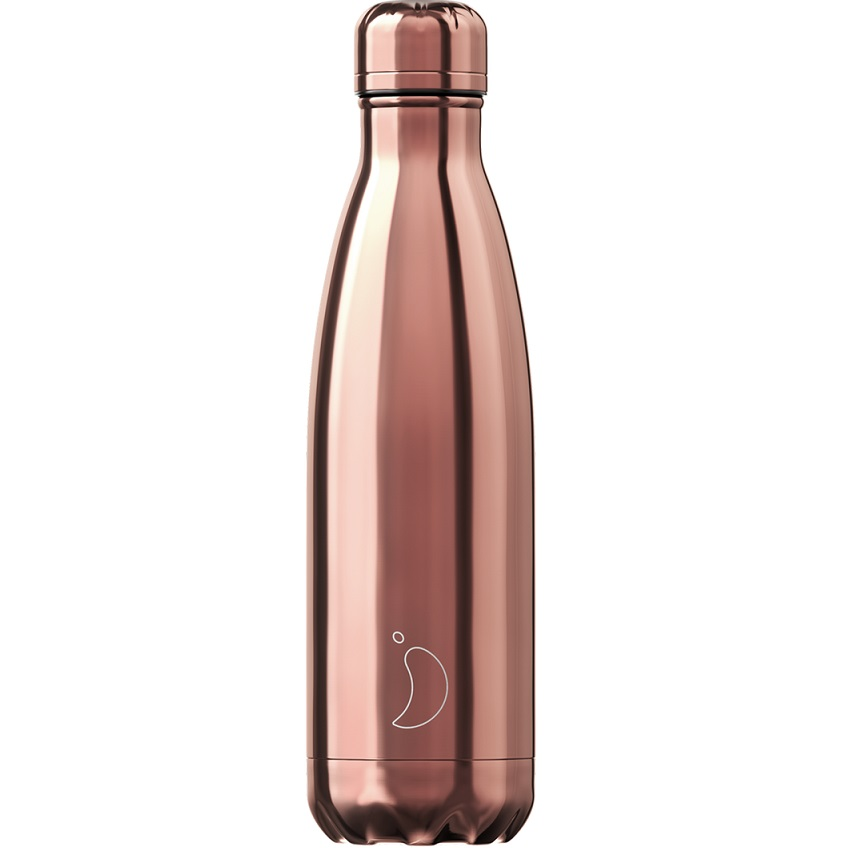 CHILLYS BOTTLES Μπουκάλι- Θερμός, Chrome Edition Rose Gold - 500ml